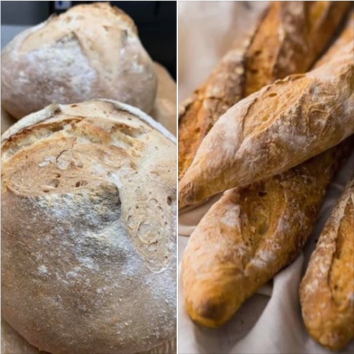 Fresh baked breads available at Necce's Ristorante